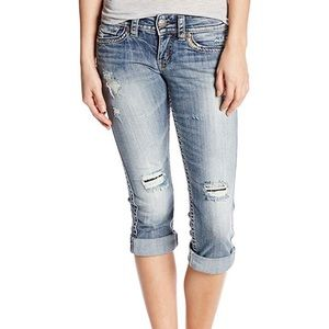 Silver Jeans Women's Tuesday Low Rise Denim Capri
